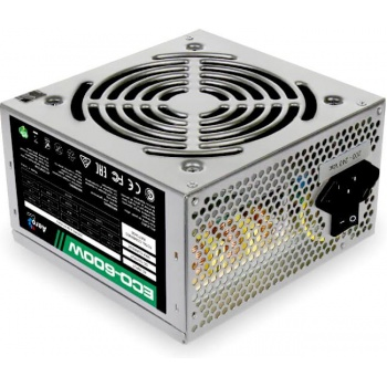 Aerocool 600W Retail ECO-600W ATX v2.3 Haswell, fan 12cm, 400-mm cable, power cord, 20+4P, 12V 4+4P, 1x PCI-E 6+2P, 4x SATA, 3x PATA, 1x FDD